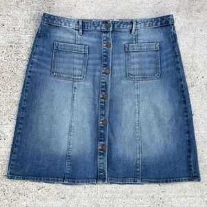 H&M L.O.G.G denim button down skirt